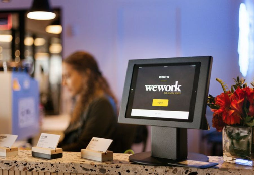 WeWork受付タブレット