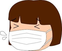 風邪の女の子